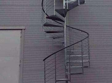 Schody kręcone zewnętrzne Atrium Heavy Metal Grand
